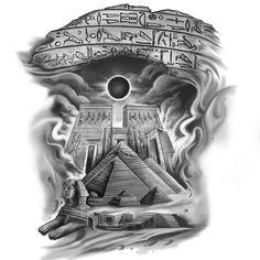 Full Arm Sleeve Tattoo, Egyptian Tattoo Sleeve, Best Sleeve Tattoos, Tattoo Sleeve Designs, Tattoo Designs Men, Anubis Tattoo, Horus Tattoo, Egypt Tattoo Design, Sketch Tattoo Design