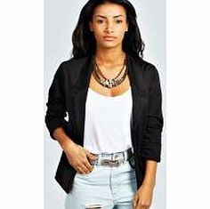 boohoo Ruched Pocket Blazer - black azz28936 Coats and jackets are a seriously statement staple this season. Whether you're taking on timeless with a trench, keeping it quirky in a kimono, or being bad ass in a bomber jacket, boohoo's got all ba http://www.comparestoreprices.co.uk/womens-clothes/boohoo-ruched-pocket-blazer--black-azz28936.asp