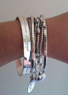 Chic silver bracelets