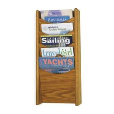 Safco 4330MO 5-Pocket Wood Magazine Rack