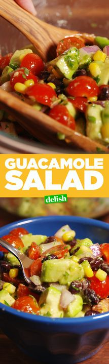 Guacamole Salad is the answer to all of your lunch prayers. Get the recipe from Delish.com.
