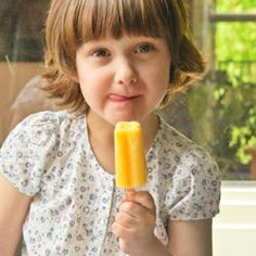 Mango and buttermilk popsicle