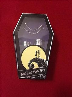 JACK AND SALLY NIGHTMARE BEFORE CHRISTMAS NBC LOVE NEVER DIES 2 RING SET COFFIN