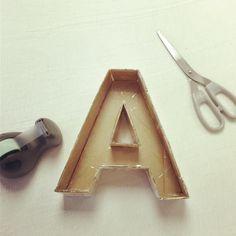 Proyecto Diy: letra con papel maché  Próximamente: vídeo tutorial en el canal de YouTube de artencasa  No te lo pierdas!!! Have a nice #Sunday