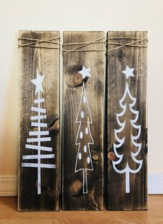 Rustic White Wooden Christmas Tree Signs Christmas Decor Rustic X-mas Decor Farmhouse Decor Rustic Decor Wood Decor Rustic Wood Signs Christmas Decor Farmhouse Rustic Signs tree White Wood Wooden Xmas Christmas Wood Crafts, Christmas Tree Painting, Christmas Signs Wood, Rustic Christmas, Christmas Decorations, Holiday Decor, Christmas Trees, Rustic Farmhouse Decor, Rustic Decor