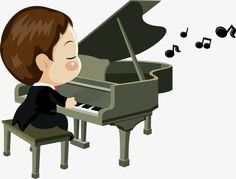 Cartoon pianist PNG and Clipart Cartoon Art, Background Images, Clip Art, Music, Piano Man, Caricatures, Wedding, Musica, Picture Backdrops