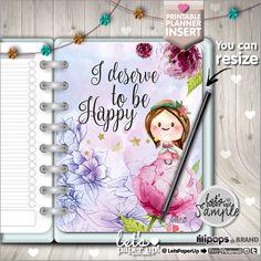 Planner Insert, Printable Planner Insert, Planner Divider, Planner Quotes, Erin Condren, Planner Dashboard, Kawaii Planner, Divider, Happy