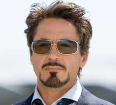 as Tony Stark Goatee Styles, Nature Study, Facial Care, Science For Kids, Robert Downey Jr, Tony Stark, Mens Sunglasses, Handsome, Revanche