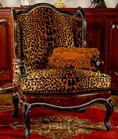 Love My Leopard chair High end furniture Bernadette Livingston Furniture is simply the best in luxury furniture and high end home furnishing...