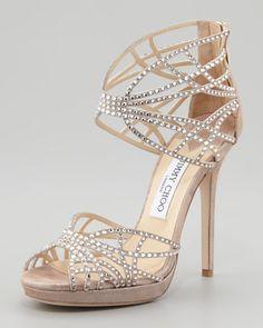 Jimmy Choo Diva Crystal Cutout Sandal - Neiman Marcus
