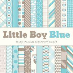 Baby Boy Digital Scrapbook