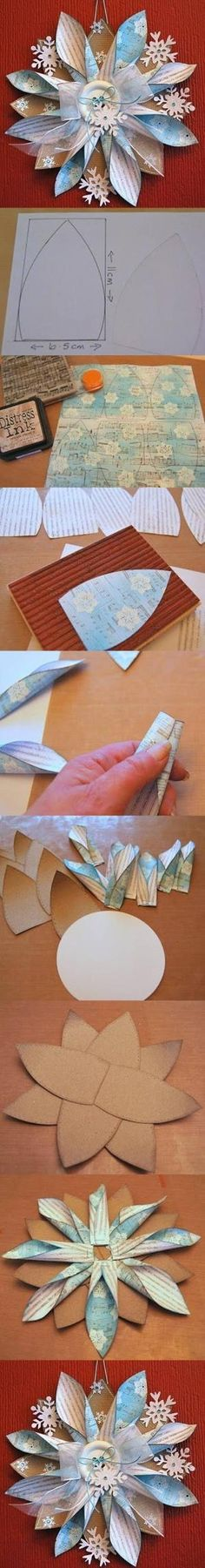 DIY rolled paper flower.