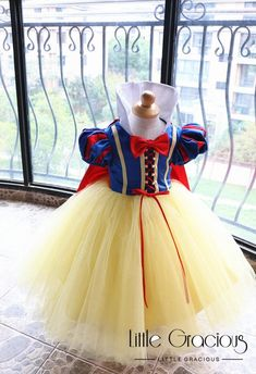 Snow White Dress - Floor length Dress LittleGracious Pageant dress Birthday Dress Halloween Dress T