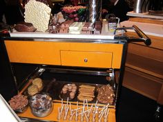 Chocolate cart at The Modern, NYC