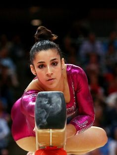 Alexandra Raisman of the United States competes on the balance beam in the Artistic Gymnastics Women's Individual All-Around final on Day 6 at the North Greenwich Arena.