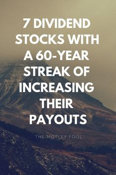 Behind every great portfolio, you'll almost always find rock-solid dividend stocks. Aside from the fact that dividend-paying companies have historically outperformed stocks that don't pay a dividend, they bring a handful of other advantages to the table. Stock Market Investing, Investing In Stocks, Investing Money, Real Estate Investing, Value Investing, Dividend Investing, Dividend Stocks, The Motley Fool, Psychology