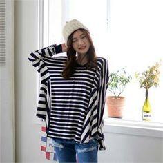 來自YesStyle.com BUYANNE品牌的長袖寬鬆條紋上衣 #YesStyle <3