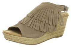 Minnetonka Ashley, Damen Knöchelriemchen Sandalen mit Keilabsatz, Beige (Taupe / TPE), 40 EU - Sandalen für frauen (*Partner-Link)