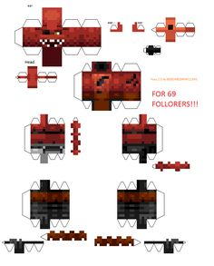 Papercraft Foxy (Five Night's At Freddy's) 70 Followers Special