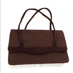 347ae75a89a8 Vintage 1940s Brown Handbag Purse Italy Brown S Brown Handbag Fabric Purse  Small Clutch By G