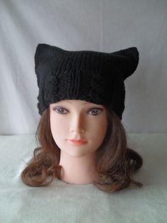 6dd12efb770 Womens winter hat – Cat ear hat – Cat beanie – Cat hat - Knit hat – Cat hat  for women - Wool hat - Beanie for women - Winter beanie