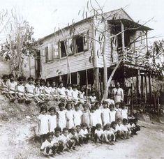 Escuela elemental Eugenio Maria de Hostos,mediados del siglo XX,Puerto Rico.
