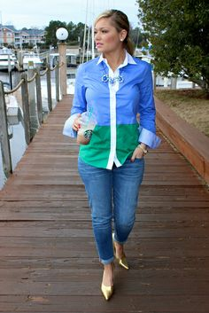 J. Crew Outfit. I have this shirt!