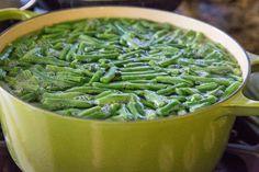 Healthy Green Bean Casserole (Dairy-Free, Keto, Gluten-Free) - The Roasted Root Healthy Green Bean Casserole, Healthy Green Beans, Crispy Onions, Caramelized Onions, Casserole Dishes, Casserole Recipes, Fresh Green Bean Recipes, Dairy Free Sauces, Greenbean Casserole Recipe