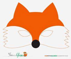 Free Printable- Fox Mask :: Fox with Glasses :: foxwithglasses.blogspot.com