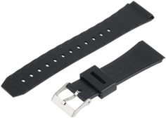 Voguestrap TX22G3 Allstrap 22mm Black Regular-Length Fits Casio Data Bank Watchband by Voguestrap -- Awesome products selected by Anna Churchill