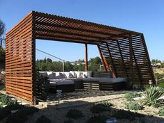 Redwood pergola - Modern Style, Shade Structure