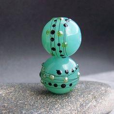 MruMru Handmade Lampwork Glass Bead Earring Pair. by magdalenaruiz, $13.00