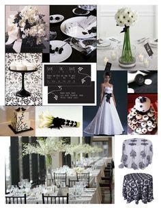 """Black & White Color Board #weddings #events #blackandwhite"" Color ideas"