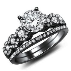 1.26ct Round Diamond Engagement Ring Bridal Set 1 ($5395.00)