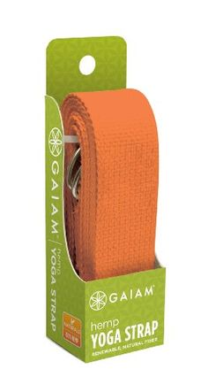 Gaiam Eco Hemp Yoga Strap (Citrus) $11.99