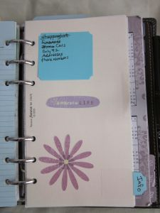 Filofax Set Up ... Interesting set up ... Seems pretty basic and like some others but a good Filofax (read 06/30/2013 - ThT (•~•))