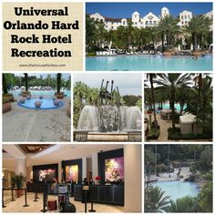 Hotel and the Universal Orlando Resort Hard Rock Recreation.   A pool that plays music under water.  Live like a rock star!