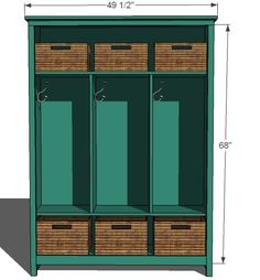 Ana White | Build a Locker Cabinet for Fresh Home Magazine | Free and Easy DIY Project and Furniture Plans