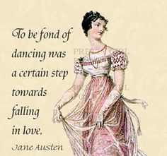Jane Austen Quotes  To Be Fond of Dancing by prettygirlpostcards, $1.95