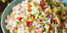 Macaroni salad is one of those things that I haven't always appreciated.I would always walk right past pasta salads and potato salads and now I absolutely love both of them! They are perfect for parties/potlucks,
