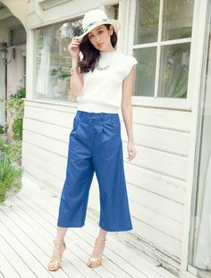 【2015S/S】デニムガウチョパンツ - fifth(フィフス) - ファッション通販fifth(フィフス)