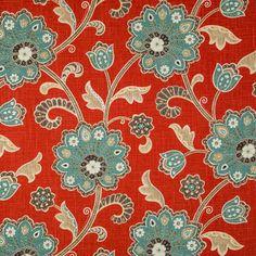Scarlet Ankara Home Decor Fabric