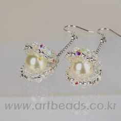 Find Gorgeous Crystal Earrings Idea for Women Girls. Polymer Clay Earrings, Bead Earrings, Crystal Earrings, Beaded Jewelry, Handmade Jewelry, Bespoke Jewellery, How To Make Earrings, Schmuck Design, Beads And Wire