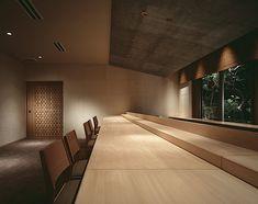 Design co. Japanese Table, Japanese Modern, Restaurant Plan, Modern Restaurant, Interior Lighting, Lighting Design, Sushi Bar Design, Zen Style, Interior Design