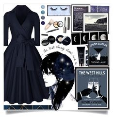 """""""Navy Galaxy"""" by angelstylee ❤ liked on Polyvore featuring Pottery Barn, Yves Saint Laurent, Christian Dior, Laura Mercier, Borghese, Terre Mère and Huda Beauty"""
