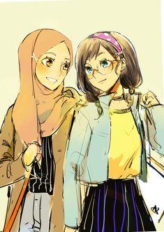 Best Friends Cartoon, Friend Cartoon, Girl Cartoon, Black Cartoon Characters, Girls Characters, Anime Characters, Boboiboy Anime, Anime Eyes, Anime Art