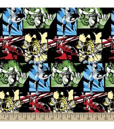 Marvel Avengers Comic Char Cotton Fabric