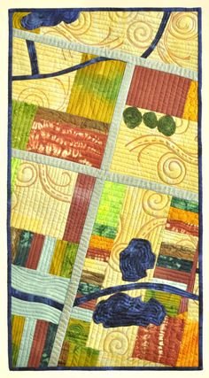 Birds's Eye View – Nancy Linz.  Milwaukee Art Quilters.