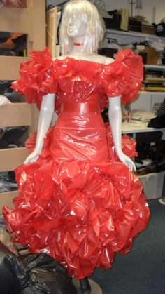 Another plastic dress for Valentine's
