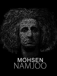 تایپوگرافی محسن نامجو Typography Mohsen namjoo http://www.ezoji.com/portfolio/item/103-portrait.html